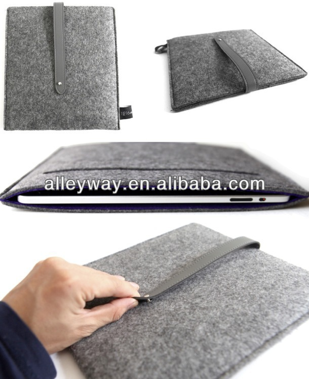 Felt notebook computer case