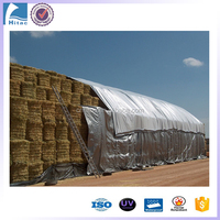 6oz/7oz/8oz waterproof, windproof snowproof round bale hay tarps to cover
