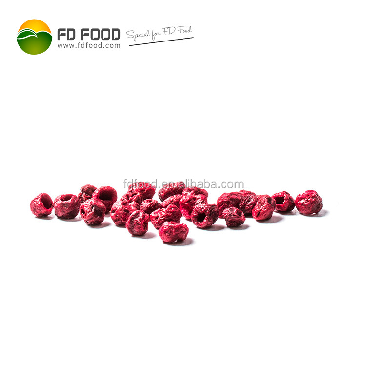 Freeze Dried Fruit Bulk Packaging FD Drying Food Sour Cherries Whole Dried Cherries For Sale