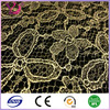 100% inflexible gold thread Floral Nylon Lace fabric