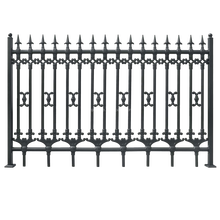 Powder coated security fence aluminum,wrought iron fence and gate
