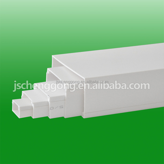 Pvc trunking size for protecting the wire cable 16X16mm