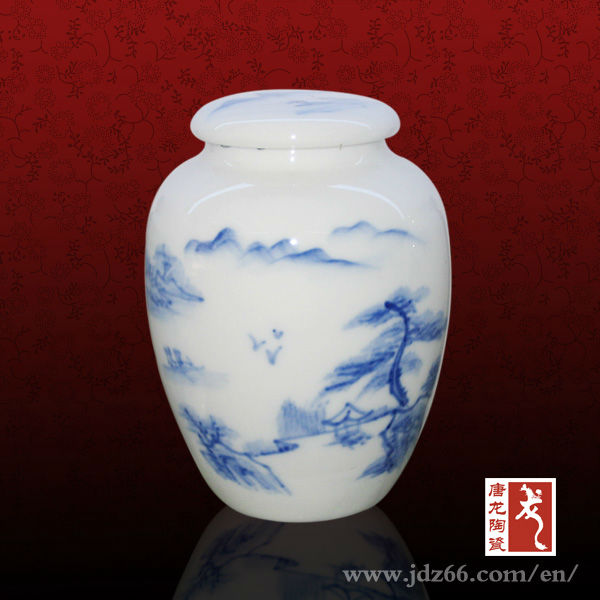 White Glazed Jingdezhen Factory Direct Sell Ceramic Tea Sugar Coffee Canister
