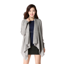 Women casual cashmere rectangle winter knitted cardigan sweaters