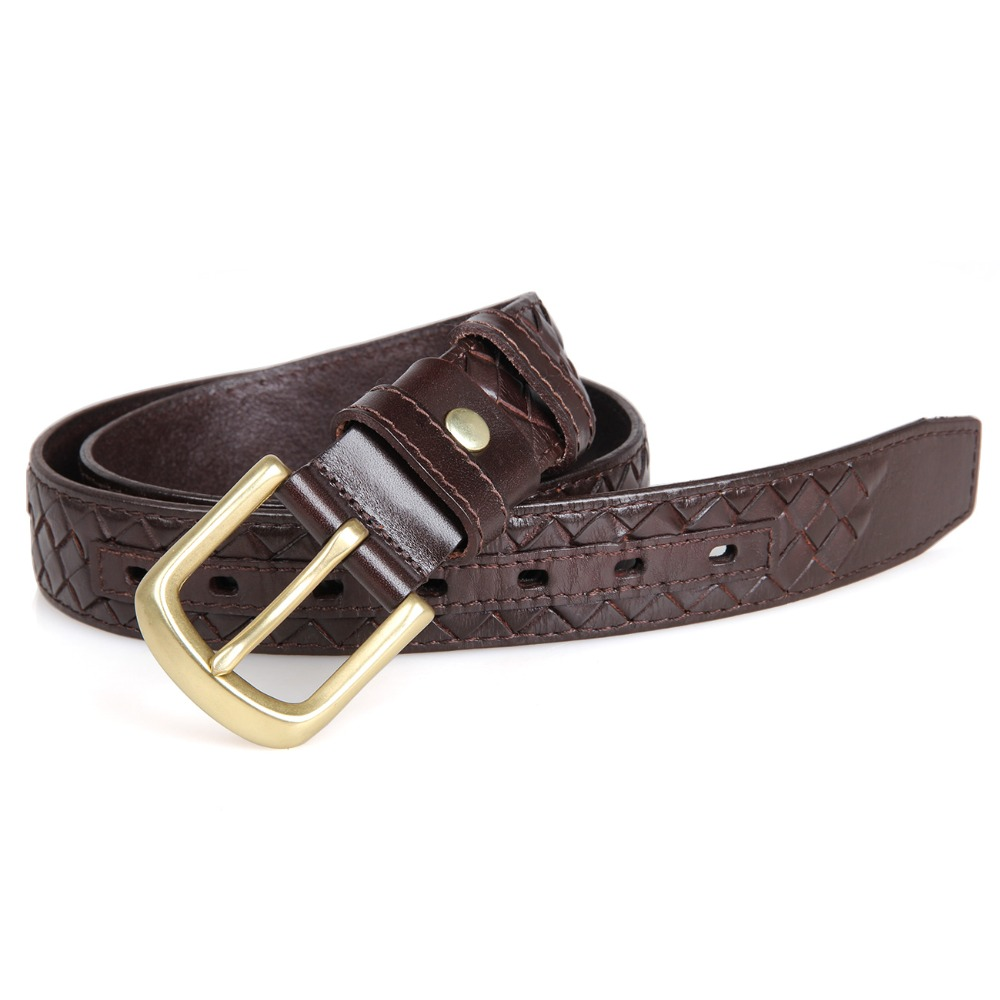 B002Q Men's belt Weave by Genuine Leather With Making-hole Machine