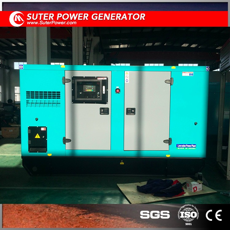 100kva soundproof generator price with industrial used diesel engine