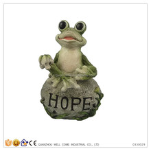 Garden Frog with Hope Outdoor Sign Live Frog Garden Decor