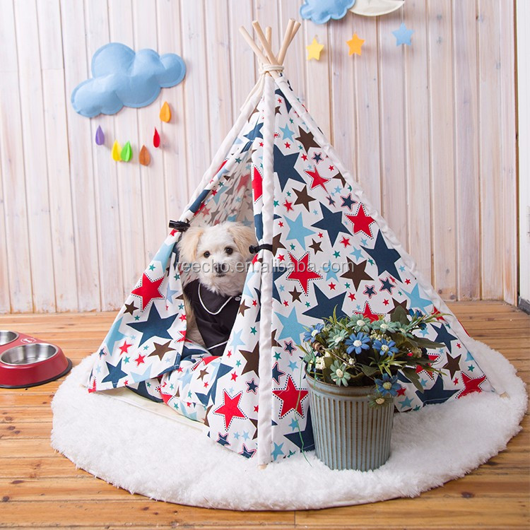 Mini Indian Tent Pet House Dog Cage