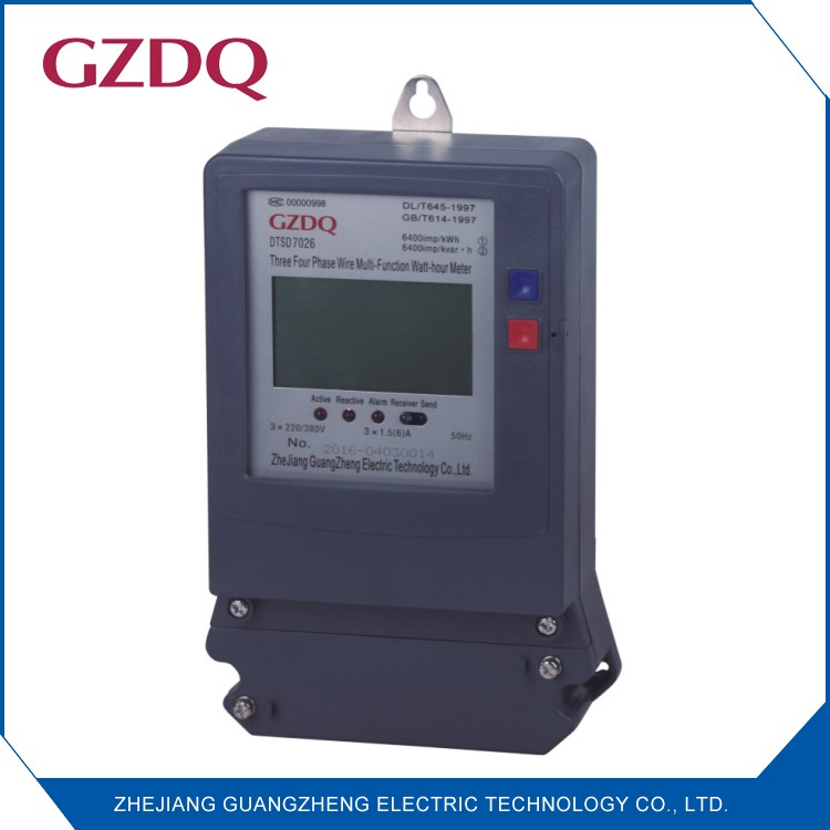 Electric meter with rs485, three phase electronic smart multi-function power meter