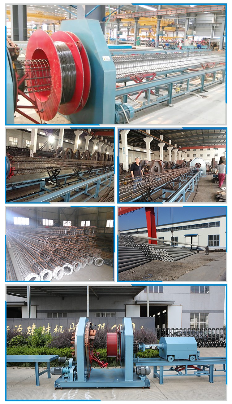 Prestress concrete spun pole cage mesh welding machine