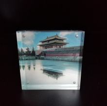 Wholesale a4 Picture Acrylic Display cube Block magnetic photo frame