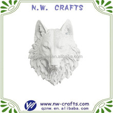 White King wolf head wall hanging sculpture