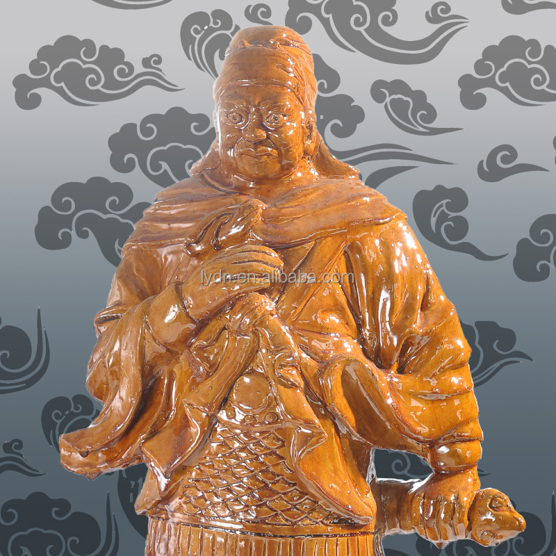 porcelain statue like buddha as roof or home decoration