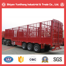 Brand New 30T Stake Semi-trailer Price/China 3 Axle 30 Ton Livestock Box Trailer Truck For Sale
