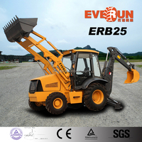 EVERUN brand CE approved backhoe loader rops&fops cabin and euroiii engine for sale