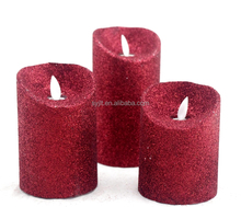 LED christmas decorative candle,Phosphor Powder Coated Glitter Swirling LED Candle Light