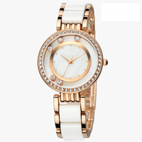 Women's Gold-Tone and ivory Bracelet Watches U.S. Polo Assn