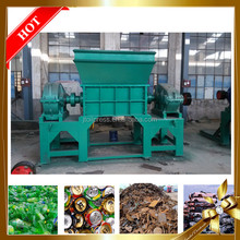 China factory price automatic shredder plastic bottles rubber pipe small waste aluminum can crusher electric