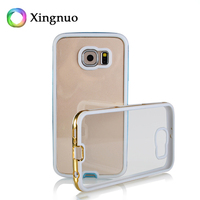Best Selling Luxury Electroplating phone Clear Plastic Slim Bumper Plating Tpu Case For Samsung S6