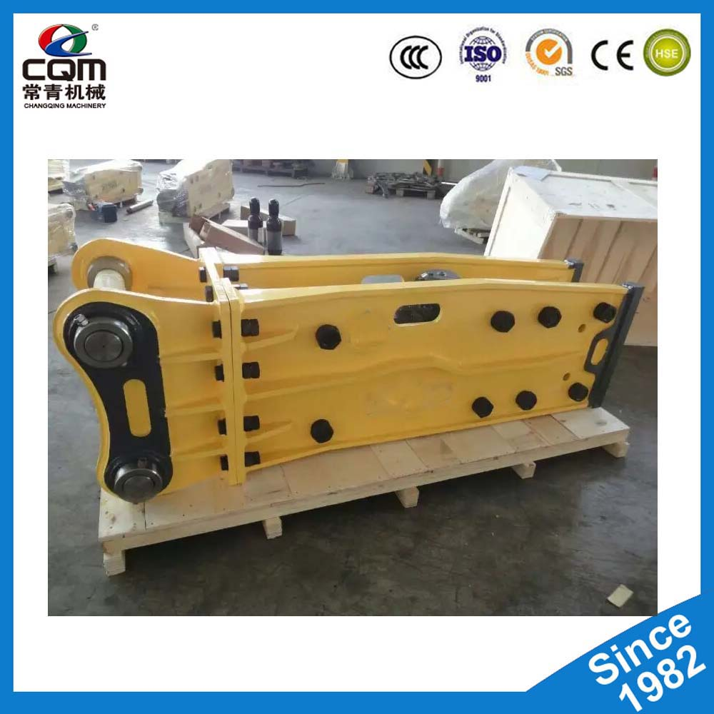 Road construction equipments circuit breaker with moil point chisel
