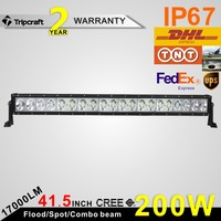 41.5INCH 200W DRIVING LED LIGHT BAR FOR BOAT SUV OFF ROAD ATV 4x4 TRUCK 4WD