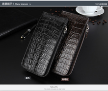 100% Genuine crocodile skin men's leather wallet price