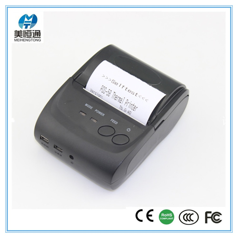MHT-5802 TopTruly 58mm Mini Portable Bluetooth 4.0 Wireless Receipt Thermal Printer