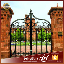 Custom Castle Antique Wrought Iron Gates