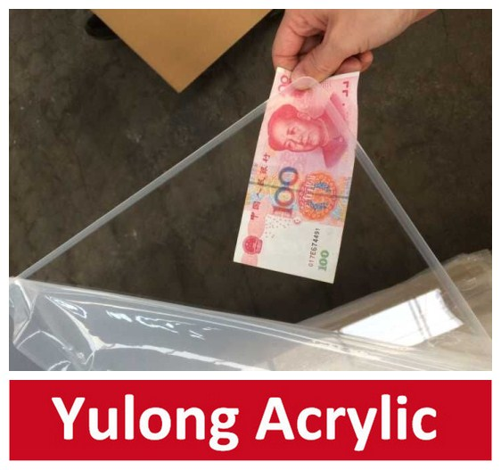 distributor wanted China Yulong Acrylic sheet / transparent clear PMMA sheet