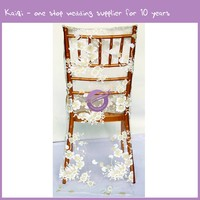 18812 Wholesale Wedding White Organza Cheap For Chair Back Cover Sashes Organza Chair Bows