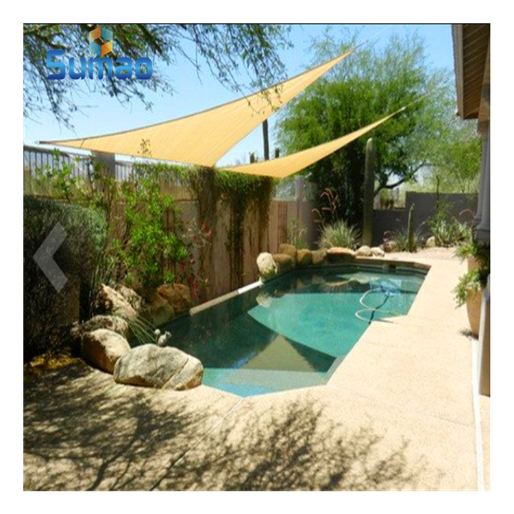 High Quality Shade Sail Used For Swimming Pool And Gardenline Shade