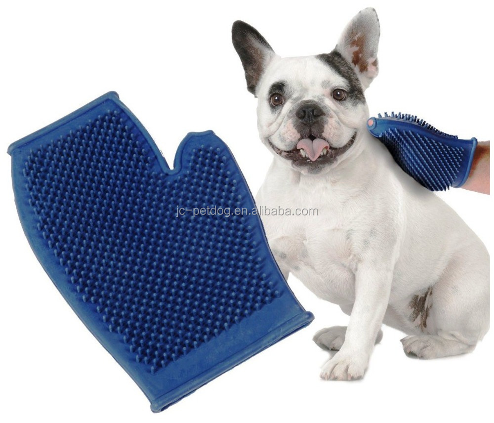 New design hot sale pet grooming glove and dog groom
