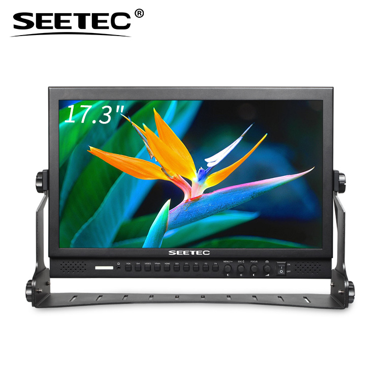 SEETEC 16:9 widescreen 1920x1080 pixels video shooting 17 tft monitor with built-in LED tally indicators