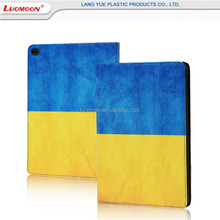Colored drawing flip leather wallet case for iPad 2/3/4 fashion pattern pu leather case for iPad air 2