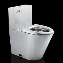 580mm wash down european standard stainless steel toilet and sink combo