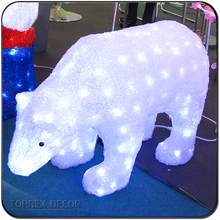 LED acrylic polar bear outdoor christmas decoration