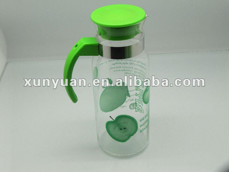 Decalled Glass Cool Water Pot for water ,juice container
