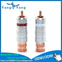 High Performance CMC Red Copper plated hifi audio RCA plug