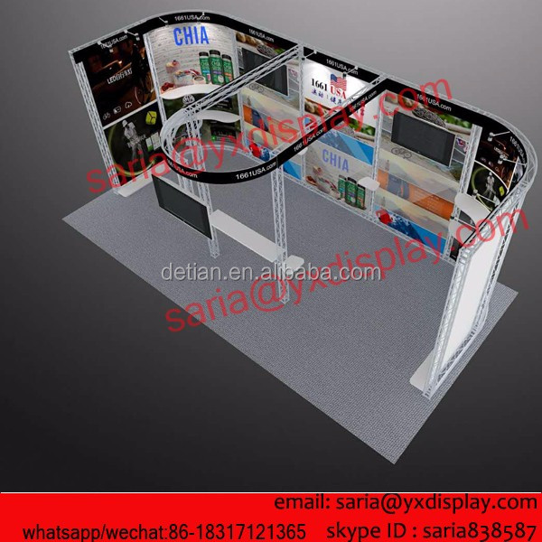 1661USA modular aluminum truss exhibition booth 10x20 for SHANGHAI SHOW IN April, 2016