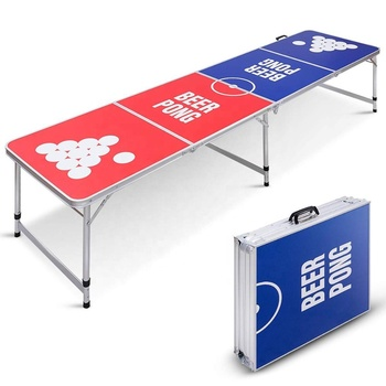 8Ft Portable Aluminum beer ping pong foldable Beer Pong Table