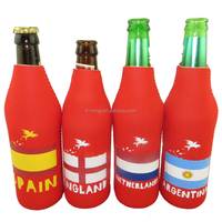 promotional cheap hot sale neoprene beer cover bottle holder with zipper