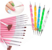 2015 new style nail gel brush wholesale nail art brush pure color pink