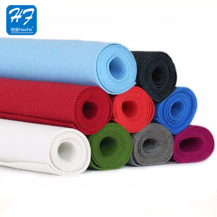 Promotional Colorful Non-Woven Recycled Printed 5mm Thick Felt Fabric 5mm Thick Felt In Rolls Fabric