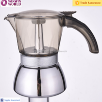 4 Cups Stainless Steel Coffee Maker With Fashion Handle