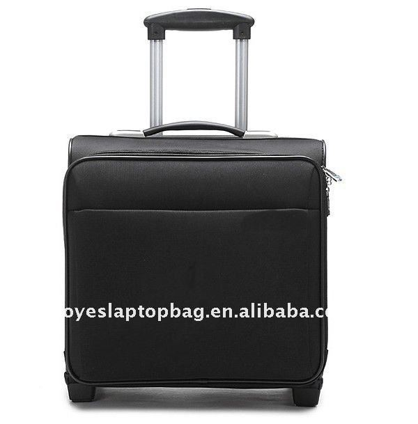 16 inch black laptop bag exhibition trolley bags
