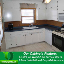 Birch wood kitchen cabinet, modern kitchen cabinets, solid wood kitchen