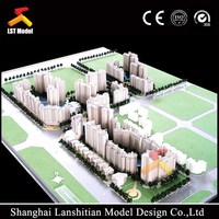 ho scale residential building model/miniature architecure model / modern house model suppier