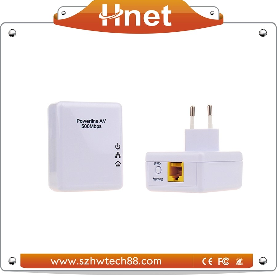 Alibaba Gold Supplier 500Mbps Homeplug Powerline Adapter with POE 4W