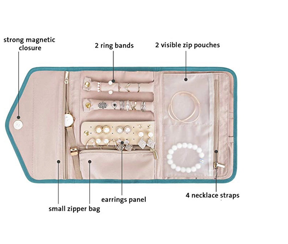 Leather Travel Jewelry Case Jewelry Organizer