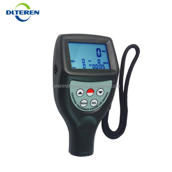 Dalian Teren CM-8855 Magnetic Induction Eddy Current F NF Probe Coating Thickness Gauge with Data Memory 0~50mil